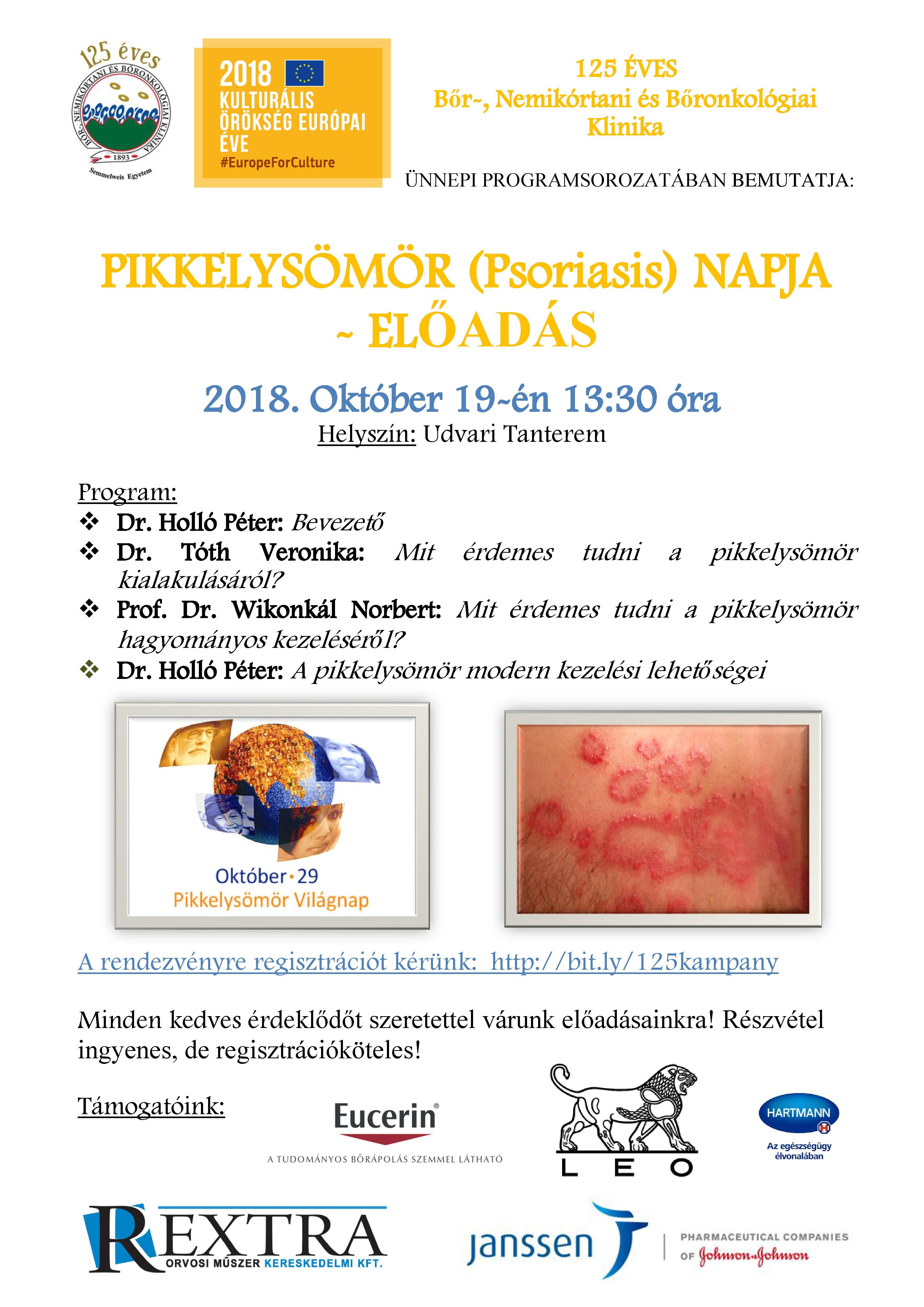 Pikkelysömör (Psoriasis) napja – előadás | Bőr-, Nemikórtani és Bőronkológiai Klinika